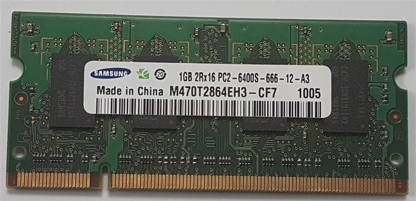 Samsung 1GB PC2-6400S Mac Memory DDR2 800mHz M470T2864EH3-CF7 Macbook/iMac Sodim