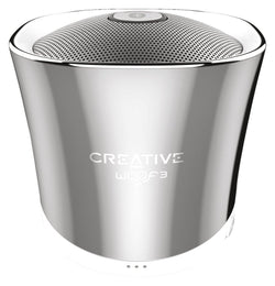 New Creative Woof3 Premium Full-Featured Personal Micro-Sized Bluetooth MP3/FLAC Speaker (Winter Chrome)