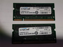 Apple Crucial 4GB 2x2GB DDR2 667mhz PC2-5300 CT25664AC667.M16FJ1 SoDIMM iMac RAM