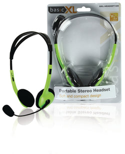 "basicXL BXL-HEADSET1GR headset - headsets (Wired, 2x 3.5 mm (1/8""), Call center/Office, Intraaural, 20 - 20000 Hz, Binaural)"