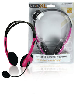 basicXL 1PI Portable Stereo Headset pink