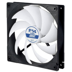 Arctic F14 PWM PST 14cm Case Fan, Black & White, 9 Blades, Fluid Dynamic, 6 Year Warranty