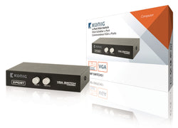 Konig 2-Port VGA Switch Black