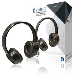 "Konig CSBTHS300BL mobile headset - mobile headsets (3.5 mm (1/8""), Supraaural, 20 - 20000 Hz, Black, Audio (3.5mm), Micro-USB, Binaural)"