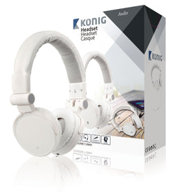 Headset On-Ear 3.5 mm Built-In Microphone White