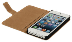 Konig Wallet Book Cover Case for Apple iPhone 5/5S - White