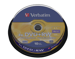 Verbatim 43488 4x DVD+RW - Spindle 10 Pack