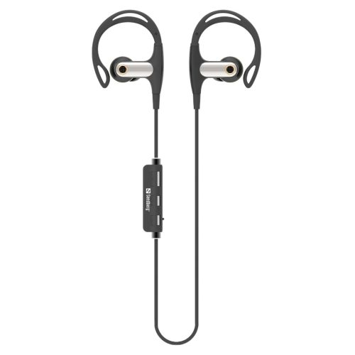 Sandberg Wireless Sports Earphones, Btooth, Inline Volume & Mic, 10mm Driver, Black & Silver, 5 Year Warranty