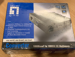 Level One Converter 1000Base-T to 1000Base-SX SC Multimode