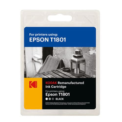 Kodak Remanufactured Epson T1801 Black Inkjet Ink, 12ml