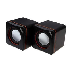 Jedel CK4 Mini USB Powered Stereo PC Computer Speakers Black/Red (2x3W)