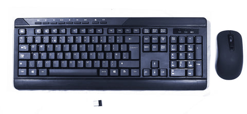 Sumvision Paradox VI (6) Black 2.4Ghz Wireless Computer PC Keyboard & Mouse Set (Bundle)
