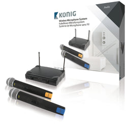 Konig KN MICW611 Microphone System with 2x Microphones for Dual Use at same time
