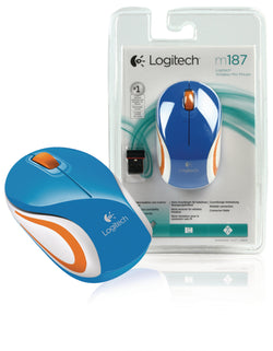 Logitech Wireless MINI Mouse M187 Radio Transfer, PC Mouse, PC / Mac, 2 Ways