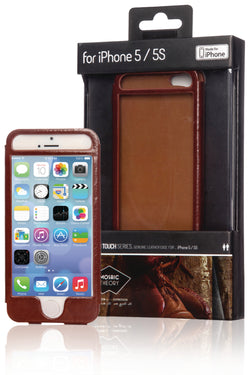 Mosaic Theory Leather Case For iPhone 5/5S-Brown