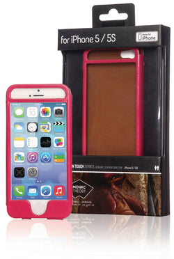 Phone case leather for iPhone 5s/5 pink