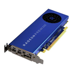 AMD Radeon Pro WX 2100 Professional Graphics Card, 2GB DDR5, DP, 2 miniDP (mDP to DVI Adapter), 1219MHz, Low Profile (With Bracket)