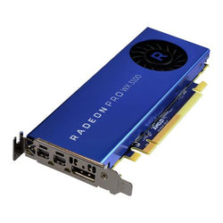 AMD Radeon Pro WX 3100 Professional Graphics Card, 4GB DDR5, DP, 2 miniDP (mDP to DVI Adapter), 1219MHz, Low Profile (With Bracket)