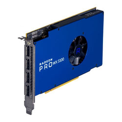 AMD Radeon Pro WX 5100 Professional Graphics Card, 8GB DDR5, 4 DP 1.4 (2 x DVI adapters), 1086MHz