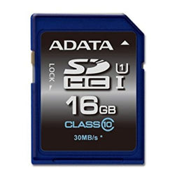 ADATA Premier 16GB High Capacity SD Card, UHS-I Class 10, R/W 50/10 MB/s