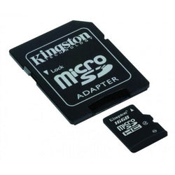 Kingston 8GB High Capacity Micro SD Card with SD Adapter, Class 4