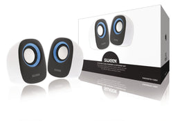 Sweex Speaker 2.0 Wired 4 W White/Blue [SW20SPS110BU]