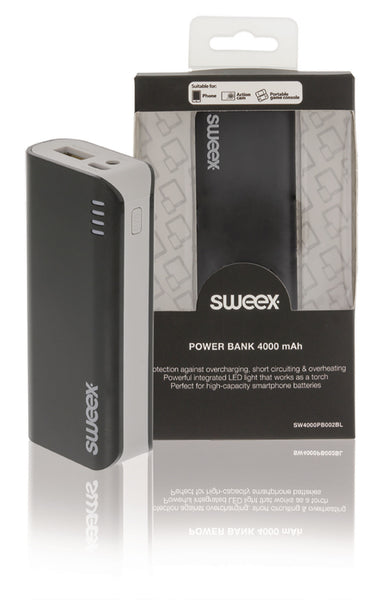 Sweex Portable Power Bank 4000 mAh USB Black SW4000PB002BL