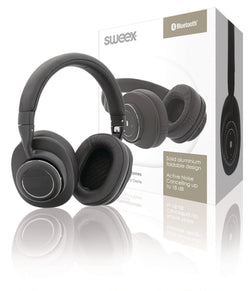 Sweex Headset Bluetooth / ANC (Active Noise Cancelling) Over-Ear Black/Silver [SWBTANCHS200BK]