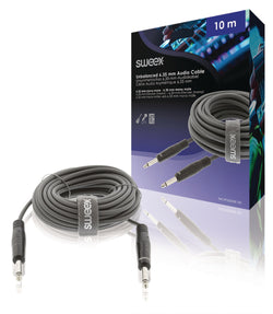 Sweex Mono Audio Cable 6.35 mm Male - 6.35 mm Male 10.0 m Dark Grey SWOP23000E100