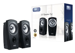 Sweex USB 2.0 Speaker Set - Black/Silver