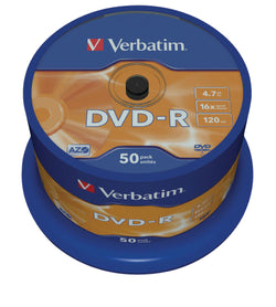Verbatim 43548 4.7GB 16x DVD-R Matt Silver - 50 Pack Spindle