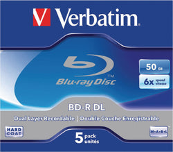 Verbatim 43748 BD-R DL 50GB 6x - 5 Pack Jewel Case
