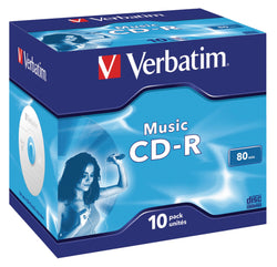 Verbatim Music CD-R for Audio 80min 10 Pack, 43365 (10 Pack)