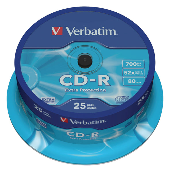 Verbatim 43432 700MB 52x Extra Protection CD-R - 25 Pack Spindle