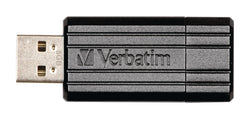 Verbatim 49062 8GB PinStripe USB 2.0 Flash Drive - Black