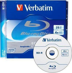 Verbatim (96434) BDR 25GB 4X Write Blu-Ray Blank Disc Recordable Single Jewel Case