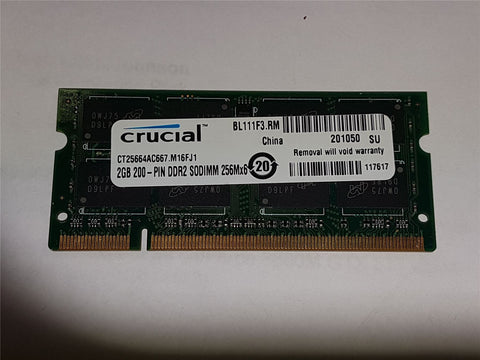 Apple Certified Crucial 2GB (1x2GB) DDR2 667mhz PC2-5300 CT25664AC667.M16FJ1 SoDIMM MacBook iMac Memory