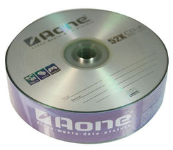 Aone CD-R Logo 25 Blank CDR Recordable Discs (2 Pack) 50pcs (52x write)
