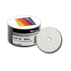 Twin Pack Traxdata CD-R 80min Full Face Inkjet Printable Blank Discs Ritek 52X W