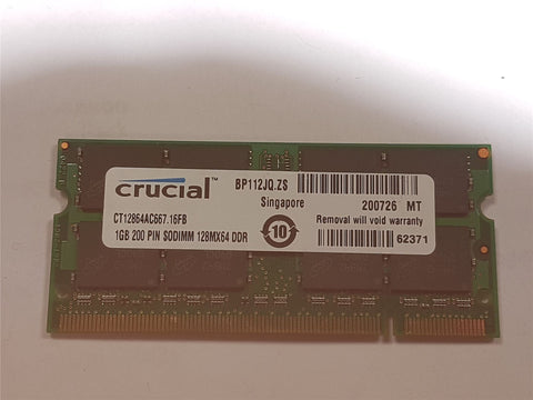 Crucial 2GB 2x1GB DDR2 667mhz PC2-5300 CT12864AC667.16FB Memory Apple MacBook/iM