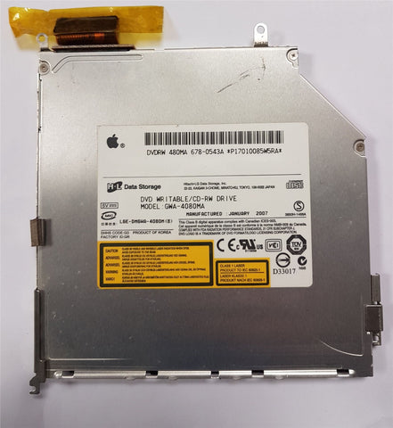 Macbook Pro A1211 A1150  GWA-4080MA DVDRW Optical Drive Apple 678-0543A Hitach-L
