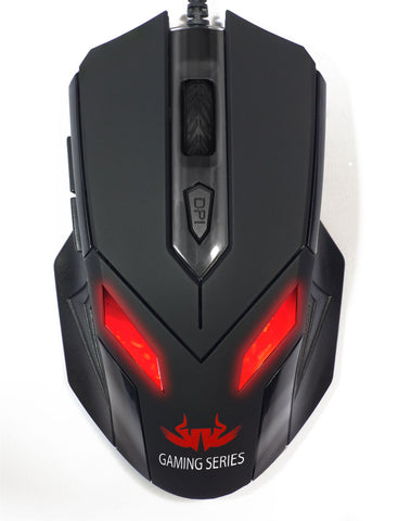 Zark wired gaming mouse with LED light 2400DPI