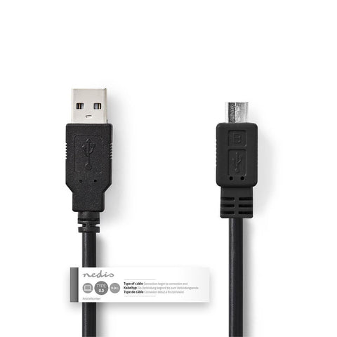 Nedis USB 2.0 Cable | A Male - Micro B Male | 1.0 m | Black