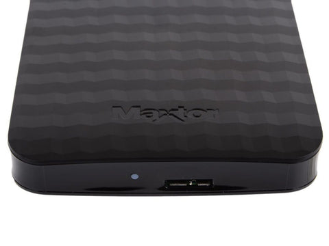 "Maxtor M3 Portable 500GB External Hard Drive 2.5"" USB 3.0 Black Backup Disk (Windows/Mac OSX Compatible)"