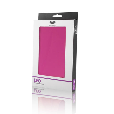 "LEO 7"" Universal Pink Outer/Grey Inter Tablet Cover"
