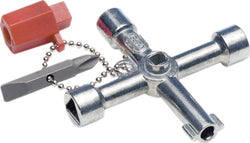 Knipex Universal Switchgear Cabinet Keys Bit Square Gas/Electric Meter Key Set/Radiator Bleeder Tool