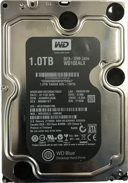 "Western Digital 1TB Internal 3.5"" SATA Hard Disk Drive WD10EALX-408EA0 Apple Certified 655-1567G 1000GB 32mb Cache WD Blue (Refurbished)"