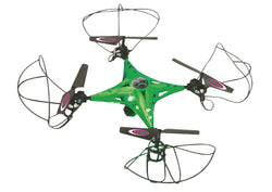 Jamara  R/C Drone CamAlu 4+5 Channel RTF / Photo / Video / Gyro Inside / With Lights / 360 Flip / FPV 2.4 GHz Control Green