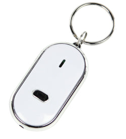 BasicXL (2 Pack) Whistle and Find Home/Car Key Finder, Keyring with LED Torch