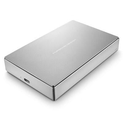 "LaCie Porsche Design 5TB 2.5"" USB-C Apple Mac Silver External Hard Drive"